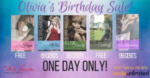 Olivia's Birthday Sale