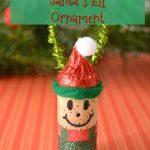Wine Cork Santa's Elf Ornament