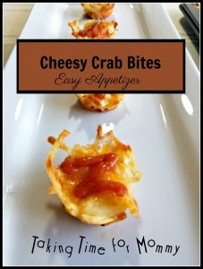 Cheesy Crab Bites Appetizer and Giveaway