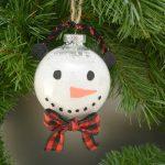 Snowman Bulb Ornament