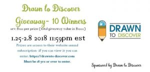 Drawn to Discover Giveaway- 10 Winners Each $120arv (ea prize)