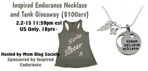 Inspired Endurance Necklace and Tank Giveaway