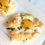 Cloud Eggs with Asiago Cheese & Chives