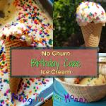 No Churn Birthday Cake Ice Cream