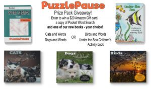Enter to Win a $20 Amazon Gift Card + PuzzlePause Prize Pack!