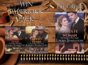 Paperback Prize Pack Giveaway – American West Series Preorder Santa Fe Woman: An American West Story (American West Series Book 3)