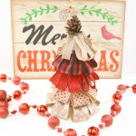 Burlap Ribbon Christmas Tree Craft