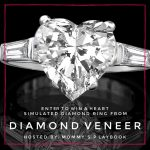 Diamond Veneer Heart Simulated Diamond Ring (APV $180)