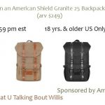 Win an American Shield Granite 25 Backpack (arv $249)