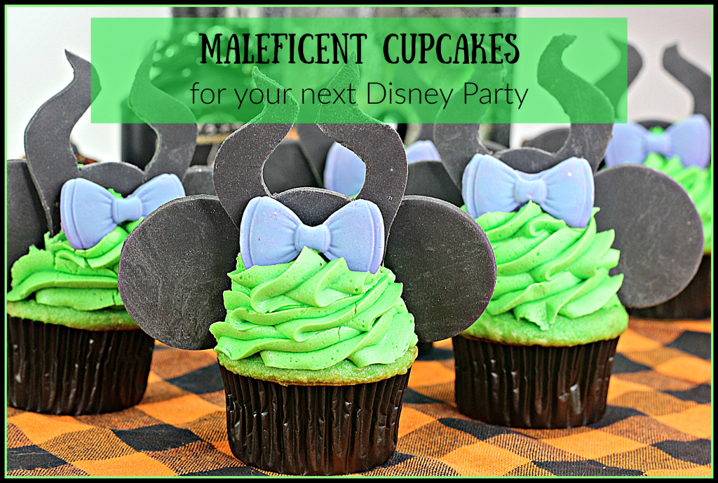 Maleficent Cupcakes for your next disney party