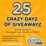 Coupon Cabin's 25 Crazy Days of Giveaways! Giveaway worth $111 Enter HERE #CouponCabinHop