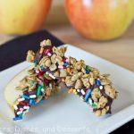 Chocolate-Granola Apple Wedges Recipe
