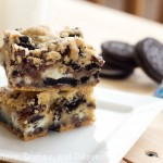 Double Cookies and Cream Kiss Bars Recipe