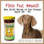 $100 Worth of Plato Pet Treats #BlogitForward