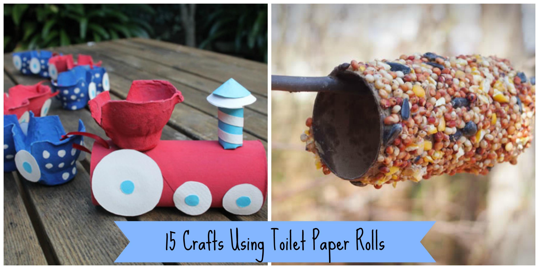 15 Crafts Using Toilet Paper Rolls