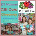 Fruit Of The Loom $75 Walmart Gift Card For #BackToSchool #Giveaway #TGIBTS
