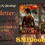 S.M. Blooding Paperback Giveaway