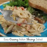 Easy Creamy Italian Shrimp Pasta for a Quick BBQ side $25 PayPal #Giveaway #SuddenlySalad