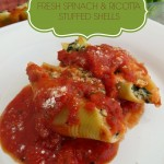 FRESH SPINACH & RICOTTA STUFFED SHELLS #RECIPE
