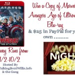 Marvel's Avenger's Age Of Ultron & $25 Paypal Movie Night Giveaway Ends 10/2