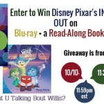 INSIDE OUT Blu-Ray Plus A Read-Along Book/CD (Ends 11/2 11:59pm)