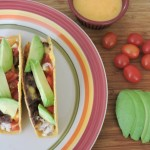 Chicken and Beer Cheese Tacos with Avocado