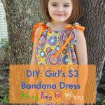Easy to Make DIY: Girl's Bandana Dress