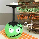 Frankenstein Wine Glass Craft