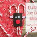Easy to Make Reindeer Candy Cane Holder Craft
