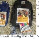 Erasable Backpack with Markers Giveaway