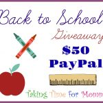 $50 PayPal Back To School Giveaway