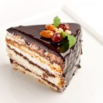 Chocolate Mousse Cake with Whipped Cream and Ganache