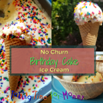 No Churn Birthday Cake Ice Cream