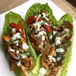 15 Minute Meal – Chicken Fajita Wraps with Creamy Cilantro-Lime Sauce