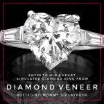 Diamond Veneer Heart Simulated Diamond Ring (APV $180)